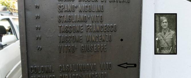 """Calabria, nuova """"sceneggiata"""" rossa per un fascista ricordato su una lapide"""