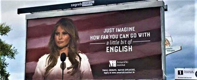"""""""Con l'inglese si va lontano, guardate Melania"""", scrive una scuola croata"""