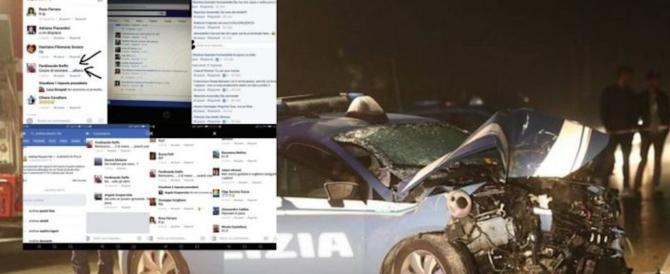 Agenti morti in un tragico incidente, insulti su fb. La polizia: denunciamo tutti
