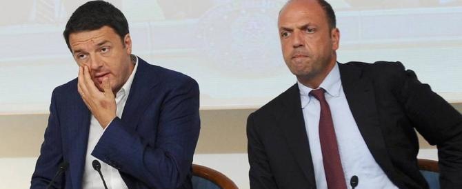 Elezioni, Renzi vuole l'ammucchiata e smaschera Alfano: «È dei nostri»