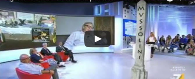 "Sgarbi distrugge Fiano e Boldrini: ""Poverini, vivono di antifascismo"" (video)"