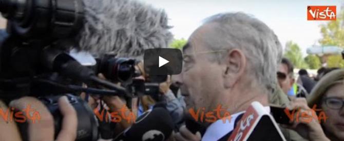 Alla festa del M5S arriva Taormina. E i grillini si allarmano: «Vattene via» (Video)