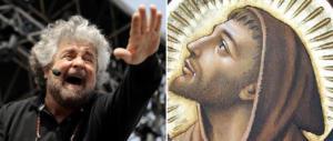 Grillo festeggia la nascita del movimento arruolando San Francesco