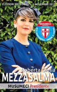 Il manifesto elettorale di Roberta Giulia Mezzasalma
