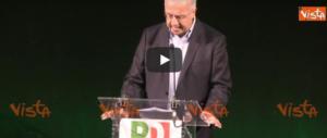 Nel triste decennale del Pd Veltroni rimpiange Prodi e umilia Renzi (video)