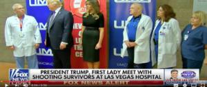 Trump e Melania a Las Vegas tra dolore e sgomento invitano i feriti alla Casa Bianca (Video)