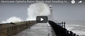 Irlanda, arriva l'uragano Ophelia: scuole chiuse, esercito mobilitato: è allerta rossa (VIDEO)