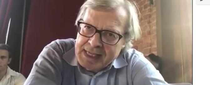 Sgarbi all'Anpi: «Teste di c…, negate ancora le atrocità fatte dai partigiani» (video)