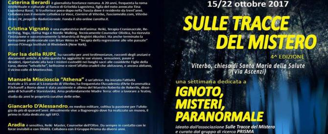 Ufo, Yeti, streghe e mostri: a Viterbo è di scena il mistero. E tutto il suo fascino