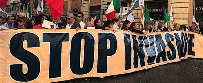 """Movimento nazionale, in 20mila per dire """"no"""" all'invasione e """"sì"""" al lavoro (2 video)"""