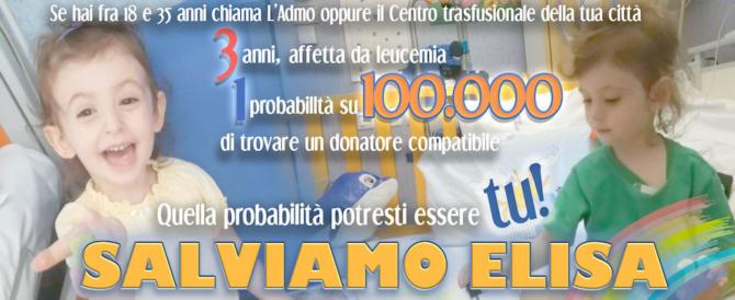 """""""Forza Elisa"""", da Fiorello ad Anastasia il tam-tam per salvare la bimba malata"""