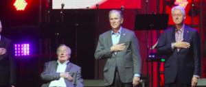 Evento storico: cinque ex presidenti Usa sul palco per le vittime degli uragani