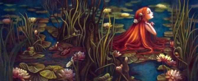 A caccia di fate nell'incantata foresta di Merlino in Bretagna