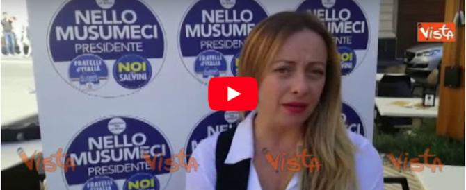 Bankitalia, Meloni: «La conferma di Visco? Un errore. Ma Renzi ha più colpe» (video)