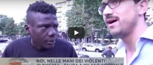 L'arrogante spacciatore africano: «Io vende erba, Italia sporco…» (video)