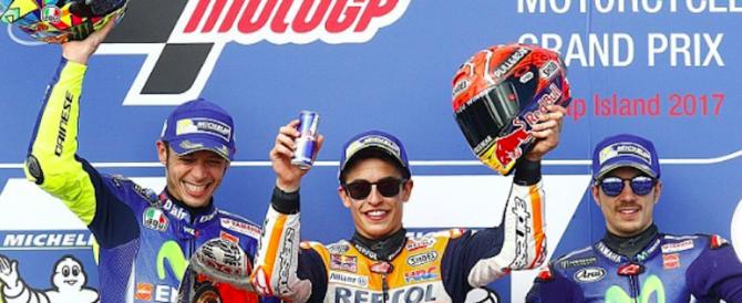 """Motomondiale, Marquez vince e vede il titolo. Rossi: """"Secondo posto importante"""""""