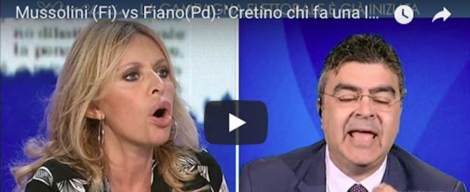 La Mussolini a Fiano: «Cretino chi ha fatto la legge antifascista» (video)