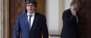 Ennesima buffonata dei separatisti catalani: Puigdemont leader in effigie