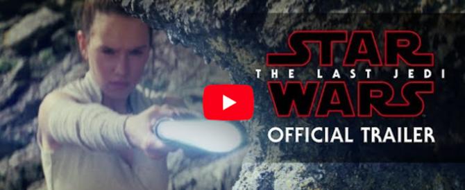 """""""Star Wars: Gli ultimi Jedi"""", in rete il nuovo trailer. Ed è subito mania (video)"""