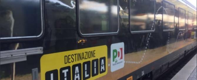 Parte il treno del Pd: è carico di debiti e viaggia tra le ironie della rete