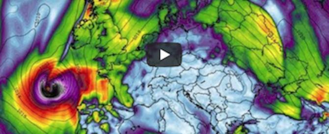 L'uragano Ophelia fa paura: si è rafforzato e sta per arrivare in Europa (video)