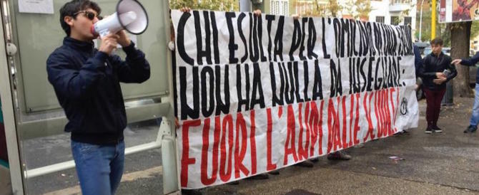 Blocco studentesco: «Fuori dalle scuole i partigiani che difendono gli stupri»