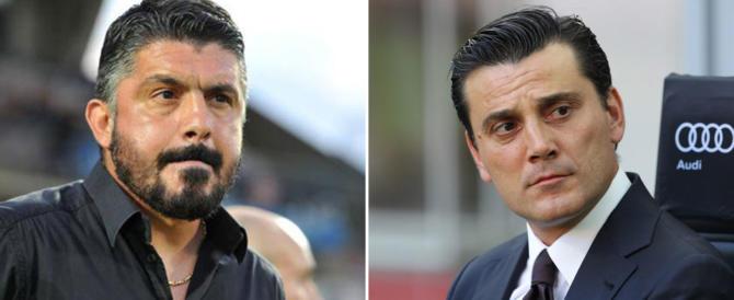 """Il Milan dà il benservito a Montella. In panchina arriva """"Ringhio"""" Gattuso"""