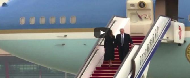 Trump dalla Cina con furore: «Kim, non metterci alla prova» (Video)