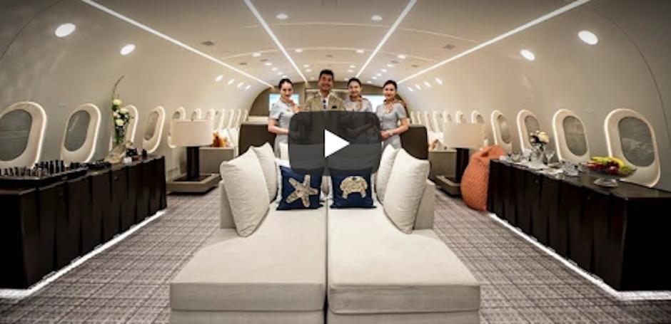 dbf093e803 Un hotel a Cinque stelle volante, un jet privato che può viaggiare fino a 17