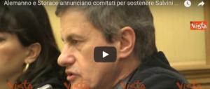 Alemanno e Storace: «Polo sovranista con Salvini premier» (video)