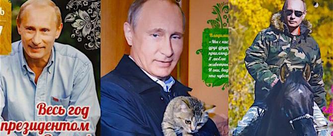 Esce il nuovo calendario di Vladimir Putin: un'immagine per ogni mese
