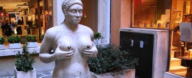 Facebook oscura la Fontana delle Tette, il monumento-simbolo di Treviso