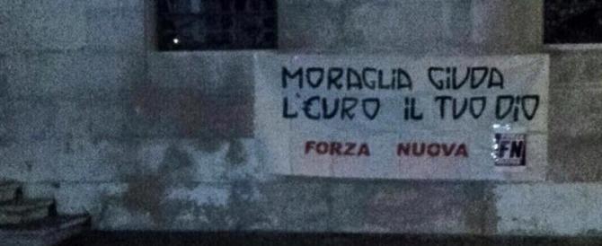 Migranti, Forza Nuova a Venezia affigge striscioni contro il patriarca Moraglia