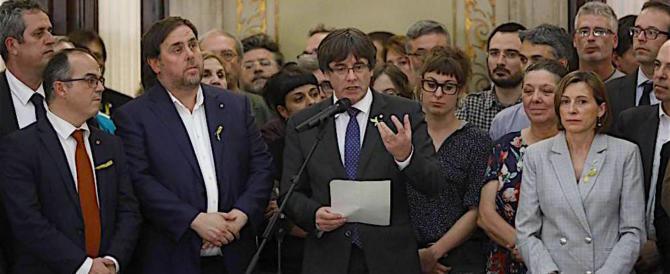 Spagna, in carcere 7 membri del governo catalano: pericolo di fuga