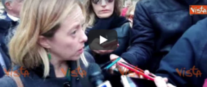 Meloni: «Patto anti-mafia? FdI ha sempre fatto la sua parte» (video)