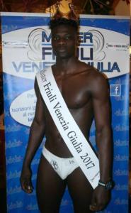 Diciotto anni, originario del Senegal, ha vinto il concorso di Mister Friuli