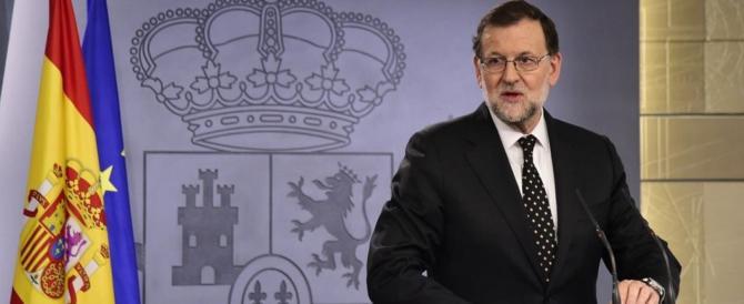 Spagna, il premier Rajoy a Barcellona si appella alla maggioranza silenziosa