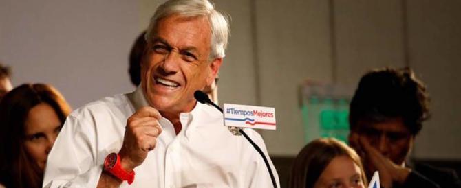 Cile, a Pinera il primo turno delle presidenziali. Sale l'estrema destra