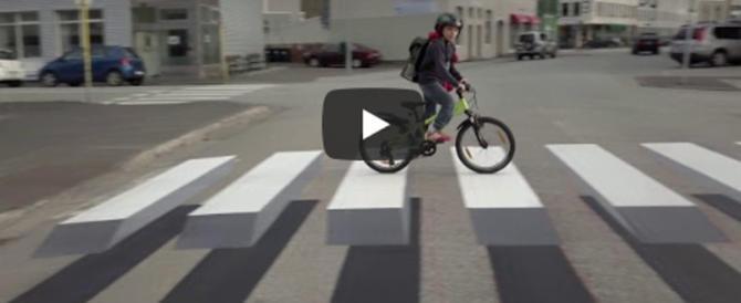 Boom delle strisce pedonali in 3D. Presto si galleggerà anche in Italia (video)