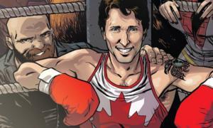 Trudeau nella versione a fumetti per la Marvel