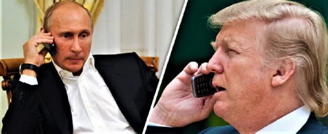 Trump e Putin un'ora al telefono: Siria e terrorismo al centro del colloquio