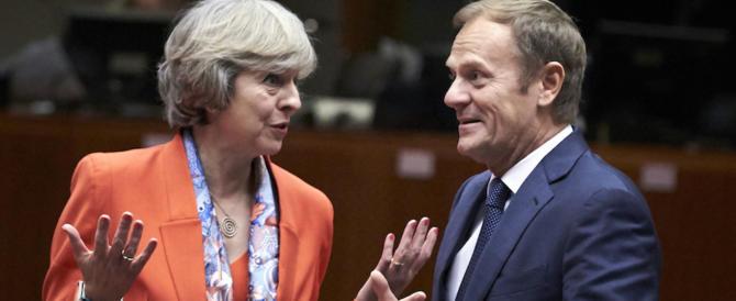 Brexit, May e Tusk ottimisti: stiamo facendo progressi tutti insieme