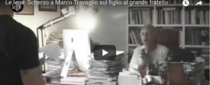 """Scherzo delle """"Iene"""" a Travaglio: «Papà vado al GF Vip"""". L'ira funesta (video)"""