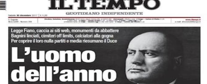 """""""Mussolini uomo dell'anno"""", il titolo del Tempo scatena gli antifascisti doc"""
