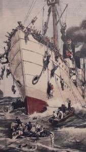 Il naufragio del vapore Sirio in cui morirono 300 emigranti