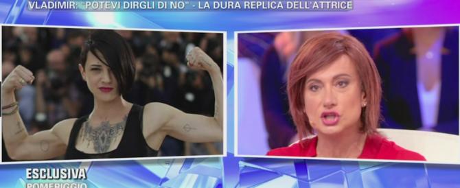 Dopo la rissa (video) Luxuria chiede scusa ad Asia Argento. «Mi faccio schifo»