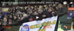 Brividi al PalaTrieste al momento dell'Inno di Mameli (video)