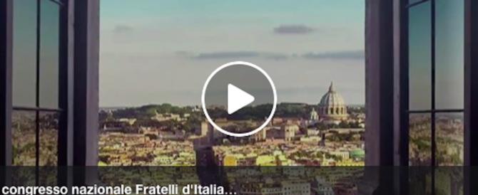 Meloni: congresso a Trieste perché è la città simbolo dell'amore per l'Italia (video)