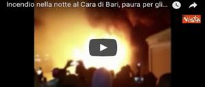Incendio al Cara di Bari, un migrante ustionato. S'indaga sulle cause (VIDEO)