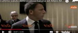 All'addio a Matteoli l'omaggio degli avversari. Dal premier Gentiloni a Renzi (VIDEO)